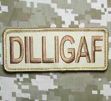 DILLIGAF USA ARMY OAF ISAF TACTICAL MORALE MILITARY BADGE DESERT VELCRO PATCH