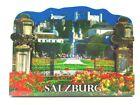 Salzburg Festung Holz 2D Magnet 10 cm Souvenir Österreich Austria