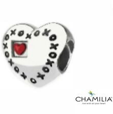 Genuine Chamilia silver 925 with love heart xoxo bracelet charm bead NA-43