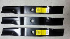 """Set of 3 Heavy Duty Kubota XHT 54"""" mower blades K5619-34350 RCK54GR ZD321N"""