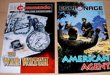 Commando SPIONAGGIO SECONDA GUERRA MONDIALE COMIC BOOK LOTTO: la GUERRA Watch & AGENTE americano