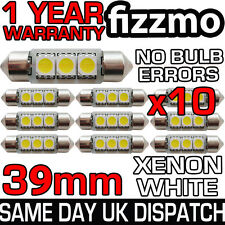 10x ERROR FREE CANBUS 3 SMD LED 39mm 239 272 C5W XENON WHITE NUMBER PLATE BULB
