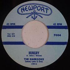 EMERSON: Joanie Joanie / Hungry NEWPORT Group Doo Wop R&B 45 NM-