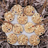 Zodiac Sign Necklace Birthday Gift Horoscope Minimalist Gold Astrological