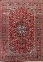 Semi Antique Traditional Floral Area Rug Hand-Knotted Oriental Wool Carpet 8x13