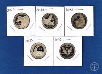 2012 S through 2016 S Proof Sacagawea Native American Dollars-5 Gem Proof Coins