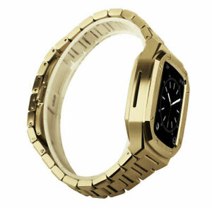 Stainless Steel iWatch Strap with Protective Case For Apple Watch Series 6 44mm