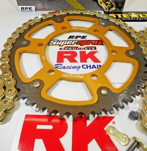 2008-2016 Honda CBR1000RR RK GXW Gold 525 OEM SuperSprox Chain and Sprocket Kit