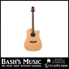 Ashton D20CEQ Dreadnought Acoustic Electric Steel String Guitar Natural Matt