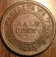 1813 United Kingdom Worcester Knapp half penny