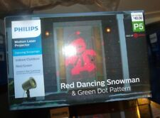 Philips Christmas Laser Projector Dancing Snowman Red/Green, Outdoor Decor