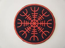 AEGISHJALMR PATCH Embroidered Iron On Badge Viking Helm of Terror Symbol NEW