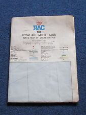 RAC Route Map Of Great Britain approx 1984