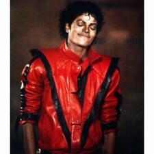 Michael Jackson Leather Jacket | Vintage 80s Classic Red Thriller MJ Jacket