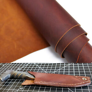 Pre-Cut Cowhide Full Grain Leather For Holster, Knife Sheaf, Embossing, Stamping