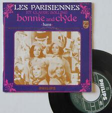 """Vinyle 45T Les Parisiennes et Claude Bolling  """"Bonnie and clyde"""""""