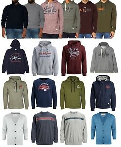Jack & Jones Mens Hoodie Hooded Sweatshirt Pullover Warm Top Hoody All Big Sizes