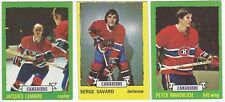 7 1973-74 TOPPS HOCKEY MONTREAL CANADIENS CARDS (LEMAIRE x 2/SAVARD+++)