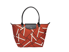 Authentic Longchamp Le Pliage Neo Geo Tote Bag Sienna Red- Large