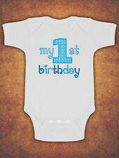 My First 1st Birthday Cute Baby Kids Preset Grow Body Suit Vest Boy