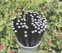 "Straws Black Paper  6mm 7.75""  Drinking Draws Eco-friendly Birthday Party 250pcs"