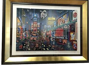 "Alexander Chen ""Times Square"" 3D Panoramic. Hand Signed"