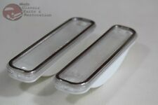 73-80 Chevy GMC Truck Clear Front Side Marker Lamp Light Lens Set Stainless Trim