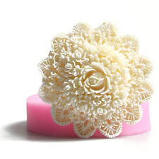 3D Lace Flower Silicone Fondant Cupcake Decor Sugarcraft Baking Mold ca