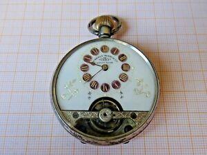 Ältere,Silber 8 Tage Taschenuhr,Hebdomas gangbar D=47 mm..ca..