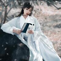 Ancient Women Hanfu Long Dress Costume Cosplay Bag-Sleeves Preppy Style Maxi 3XL