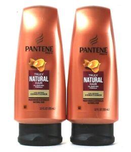 2 Bottles Pantene Pro V 12 Oz Truly Natural Hair Curl Defining Conditioner
