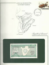 New listing Banknotes of Every Nation Burundi 1989 10 Francs Unc P33b Prefix Af