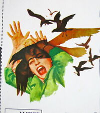 """""""THE BIRDS"""" ALFRED HITCHCOK ROCK TAYLOR UNUSED MEXICAN LOBBY CARD SET 1963"""