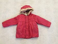 NWT GYMBOREE Pink Quilted Three-In-One Gingerbread Girls Winter Jacket  4T-5T