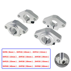 8mm - 60mm Bore, Linear Rail Shaft Supports, SHF8 to SHF60, for CNC, 3D Printer