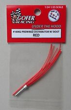 RED PREWIRED DISTRIBUTOR w BOOT 1:24 1:25 GOFER RACING CAR MODEL ACCESSORY 16002