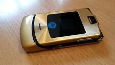 Klapphandy Motorola RAZR V3i Gold + simlockfrei + mit Folie + topp