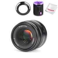 Brightin Star 55mm f/1.8 Full Frame Manual Lens for Sony E Mount+Lens Pouch+Hood