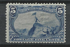 USA 1898 5c Blue Trans Mississippi Exposition, Mint, MLH