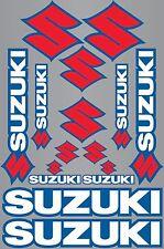 14x SUZUKI BIKES STICKERS SHEET DECALS VINYL LOGO MOTORCYCLE GRAPHICS