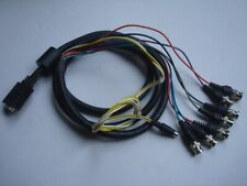 Vga macho a 7 conectores BNC (Inc. Rgb & H/V Sync) + 4-pin Cable Mini Din