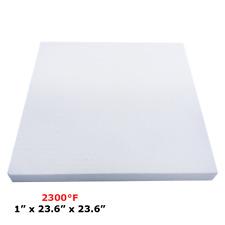 "1"" Refractory Ceramic Fiber Insulation Board 2300F 23.6"" x 23.6"""