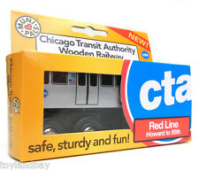 "Munipals MP03-11RD Wooden Subway ""L"" Train Chicago CTA Red Line Howard to 95th"