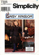 Simplicity Daisy Kingdom Child's Dress and Doll Dress Pattern 7305  8-14
