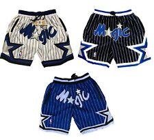 Orlando Magic Shorts Blue Black White All Stitched