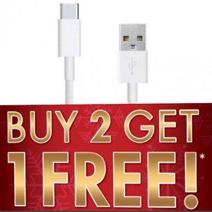 USB 2.4A FAST TYPE-C CHARGER DATA SYNC CABLE 1M 3M SUMSUNG ANDROID WHITE BLACK