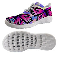 Butterfly Printed Womens Aqua Shoes Beach Hole Soles Lace Up Barefoot Fast Dry