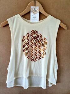 Flower of Life Yoga Sacred Geometry Top Shirt Tank Bohemian GypsyLee Jewels Sz10