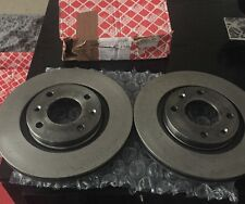 Vented Febi Front Brake Discs Pair Genuine OE Quality Service Part