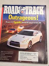 Road & Track Magazine Nissan's GT-R Porsche 911 Turbo May 2008 060117nonr